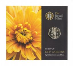 2009 50p Kew Gardens Brilliant Uncirulated Coin Pack for sale